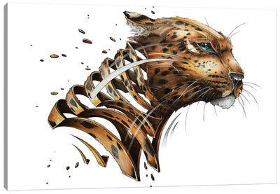 Leopard Slice Canvas Art Print