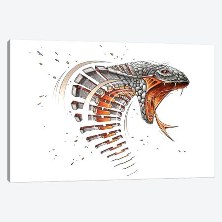 Cobra Canvas Print #JYN8} by JAYN Canvas Wall Art