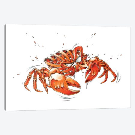 Crab Canvas Print #JYN9} by JAYN Canvas Wall Art