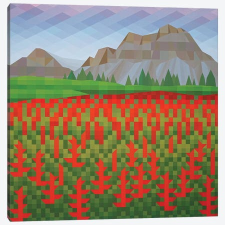 Field of Poppies Canvas Print #JYO13} by Jun Youngjin Canvas Print