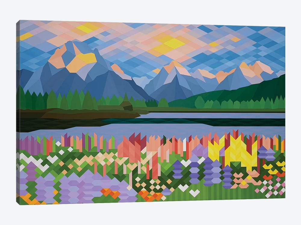 Flower Fields 1-piece Canvas Print