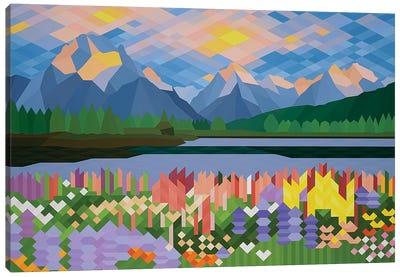 Flower Fields Canvas Art Print