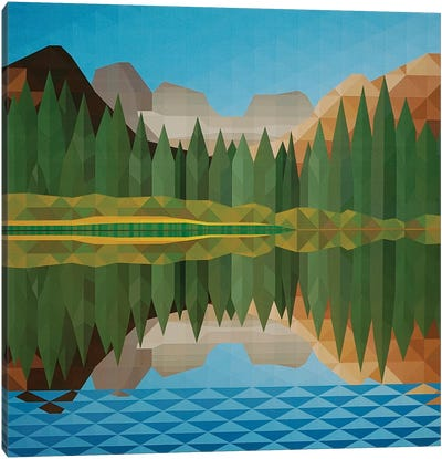Lake Reflection Canvas Art Print