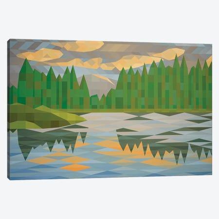 Lake Reflection II Canvas Print #JYO19} by Jun Youngjin Canvas Art Print
