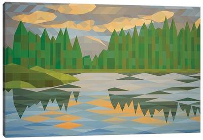 Lake Reflection II Canvas Art Print