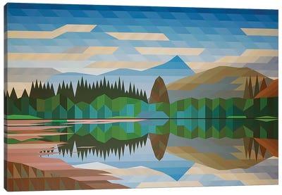 Lake Reflection III Canvas Art Print
