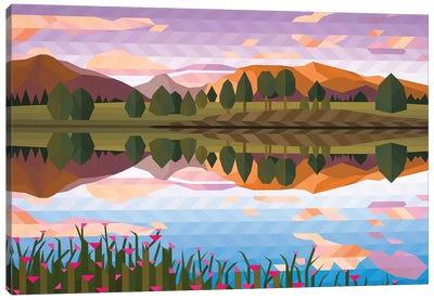 Lake Reflection IV Canvas Art Print