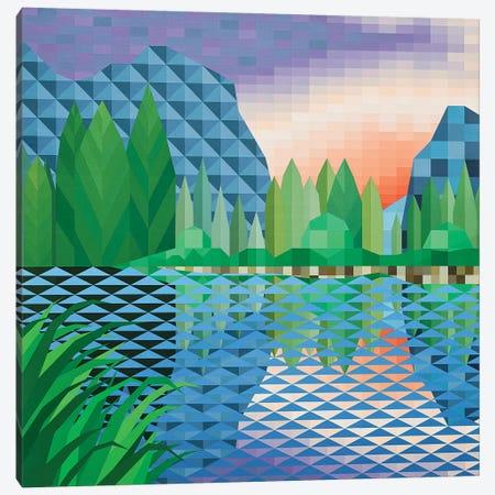 Lakeside Sunset Canvas Print #JYO22} by Jun Youngjin Canvas Wall Art
