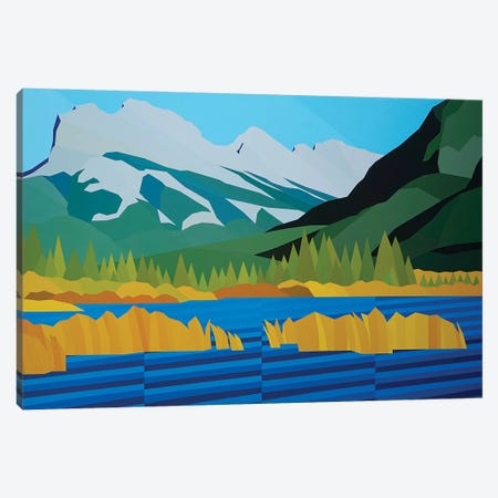 Mountain and Plains Canvas Print #JYO23} by Jun Youngjin Canvas Wall Art