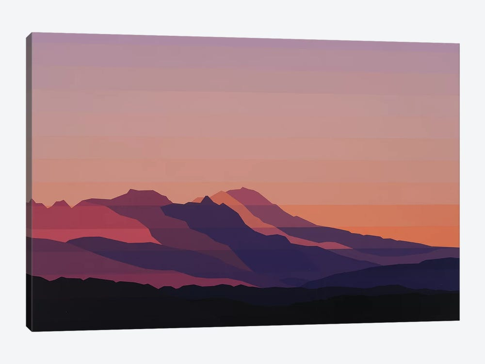 Mountain Dusk by Jun Youngjin 1-piece Canvas Wall Art
