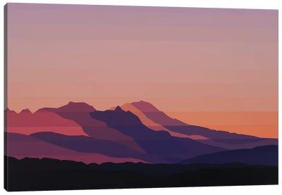 Mountain Dusk Canvas Art Print