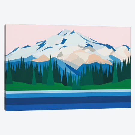 Mountain View Canvas Print #JYO25} by Jun Youngjin Canvas Print