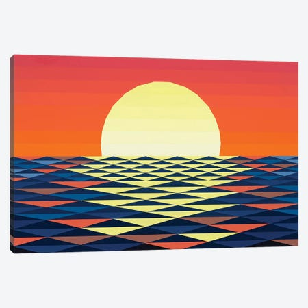 Nautical Sunset Canvas Print #JYO26} by Jun Youngjin Canvas Print