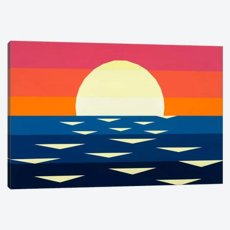 Nautical Sunset II Canvas Print #JYO27} by Jun Youngjin Canvas Art Print
