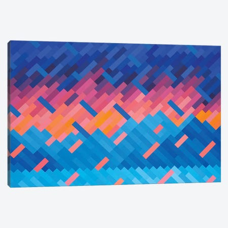 Abstract Sunset Canvas Print #JYO2} by Jun Youngjin Canvas Print