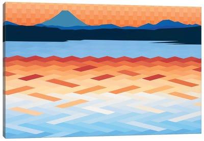 Orange and Blue Sea and Sky Canvas Art Print