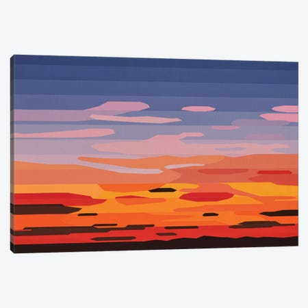 Orange and Pink Clouds Canvas Print #JYO32} by Jun Youngjin Art Print