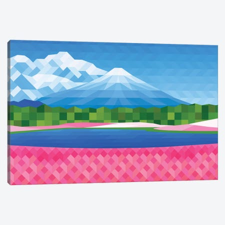 Pink Fields Canvas Print #JYO36} by Jun Youngjin Canvas Art