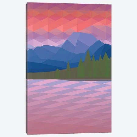 Pink Mountains Canvas Print #JYO37} by Jun Youngjin Canvas Art