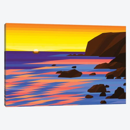 Shoreline Sunrise Canvas Print #JYO39} by Jun Youngjin Canvas Art Print