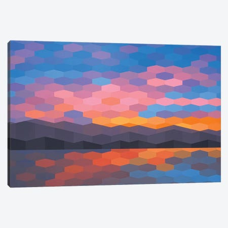 Abstract Sunset II Canvas Print #JYO3} by Jun Youngjin Canvas Art Print