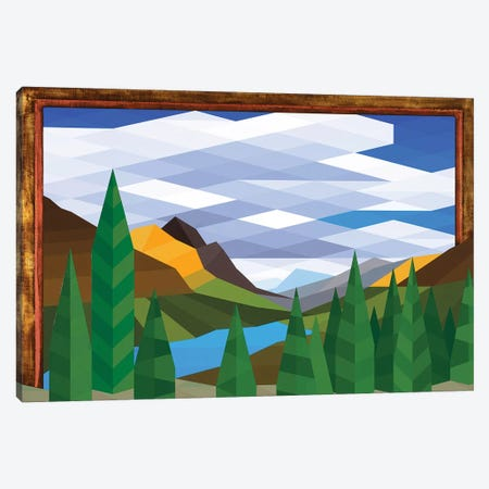 Sky and Trees Canvas Print #JYO40} by Jun Youngjin Canvas Art
