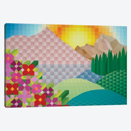 Sunny Hillside Canvas Print #JYO42} by Jun Youngjin Canvas Wall Art