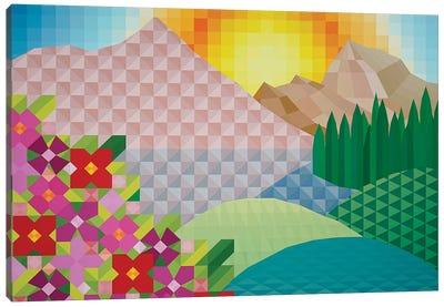 Sunny Hillside Canvas Art Print