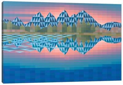 Sunset Mountains Canvas Art Print