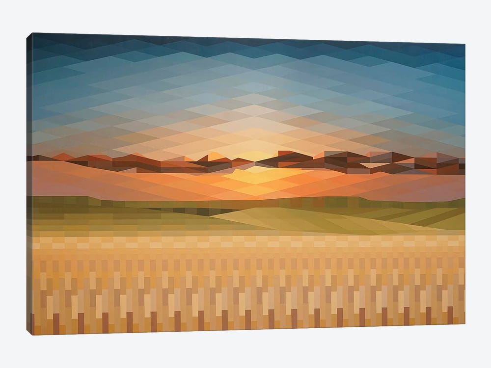 Sunsrise Fields by Jun Youngjin 1-piece Canvas Wall Art