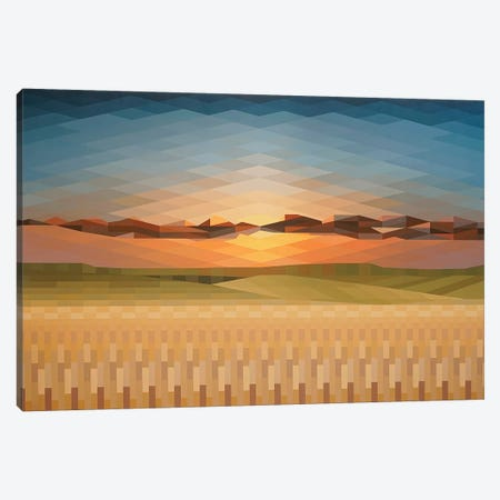 Sunsrise Fields Canvas Print #JYO46} by Jun Youngjin Art Print