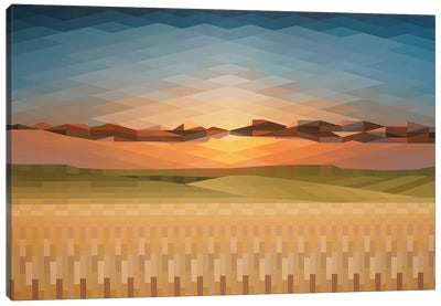 Sunsrise Fields Canvas Art Print