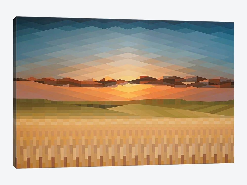 Sunsrise Fields by Jun Youngjin 1-piece Canvas Wall Art