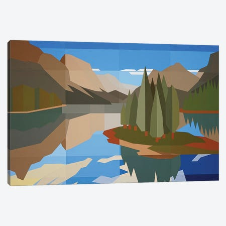 Tree Island Canvas Print #JYO47} by Jun Youngjin Canvas Print