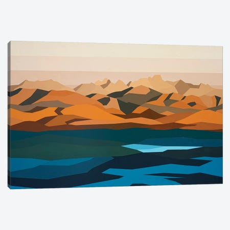 Water and Mountains Canvas Print #JYO49} by Jun Youngjin Canvas Wall Art