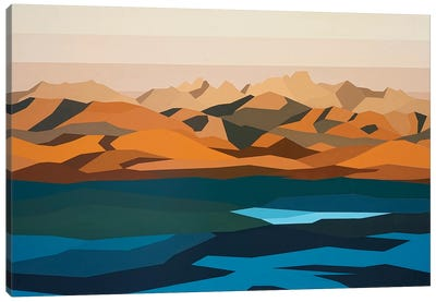 Water and Mountains Canvas Art Print