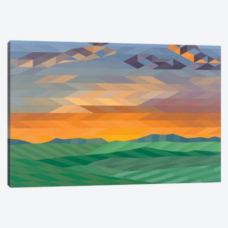 Wide Open Plains Canvas Print #JYO50} by Jun Youngjin Art Print