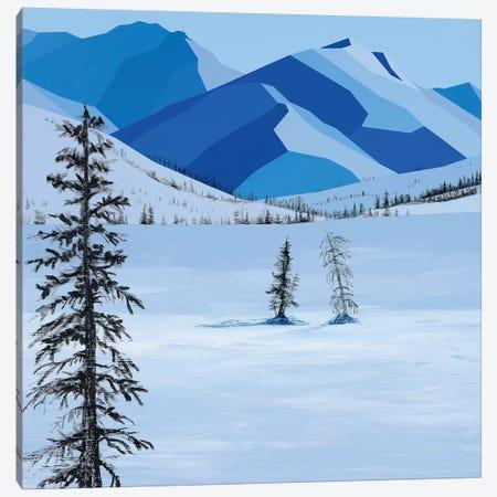 Wintery Fields Canvas Print #JYO51} by Jun Youngjin Canvas Print
