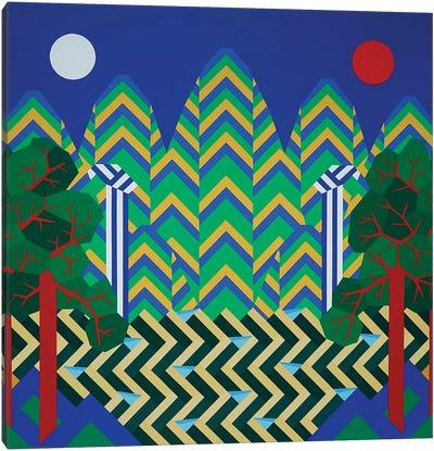 Sun & Moon & Five Peaks Canvas Art Print