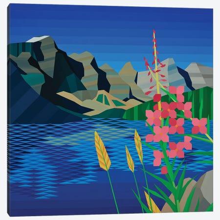 Pink Wildflower Canvas Print #JYO54} by Jun Youngjin Canvas Art