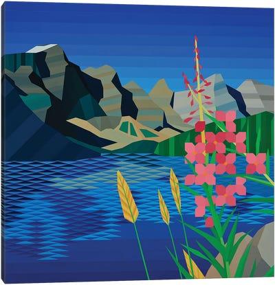 Pink Wildflower Canvas Art Print