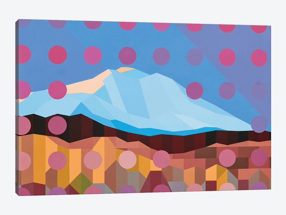 Dotted Mountain by Jun Youngjin 1-piece Canvas Wall Art