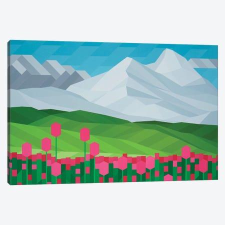 Pink Tulips Canvas Print #JYO61} by Jun Youngjin Canvas Art