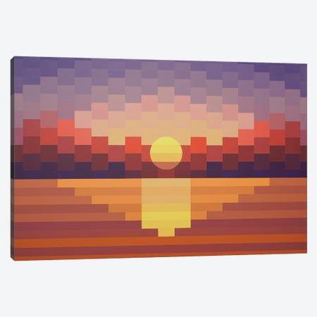 Sunset Reflection Canvas Print #JYO65} by Jun Youngjin Art Print