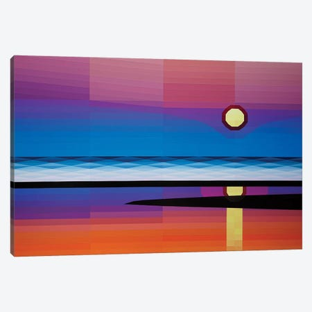 Beach Sunrise Canvas Print #JYO6} by Jun Youngjin Canvas Artwork