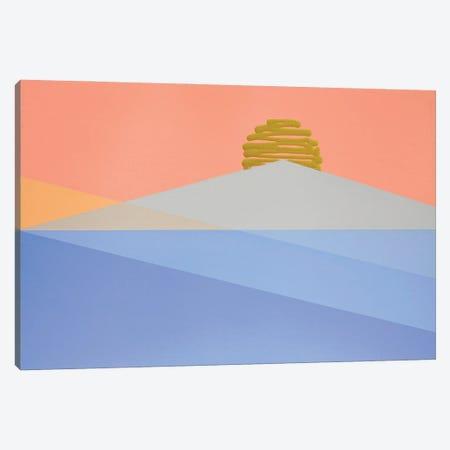 Geometric Sunrise Canvas Print #JYO71} by Jun Youngjin Canvas Art Print