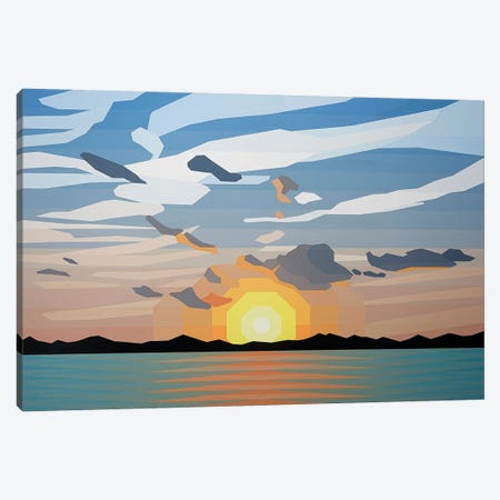 Beautiful Sunrise Canvas Print #JYO7} by Jun Youngjin Canvas Artwork