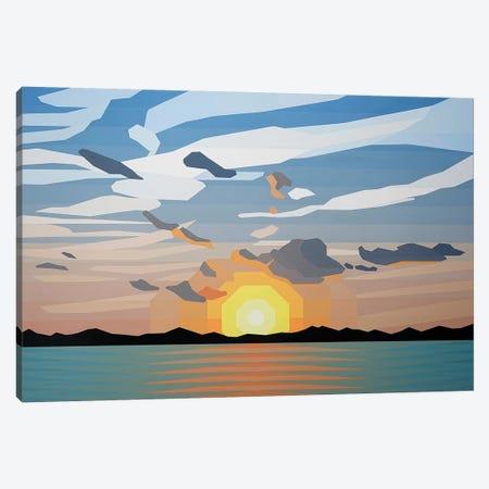 Beautiful Sunrise Canvas Print #JYO7} by Jun Youngjin Canvas Artwork