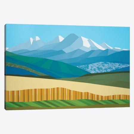 Clear Blue Canvas Print #JYO81} by Jun Youngjin Canvas Artwork