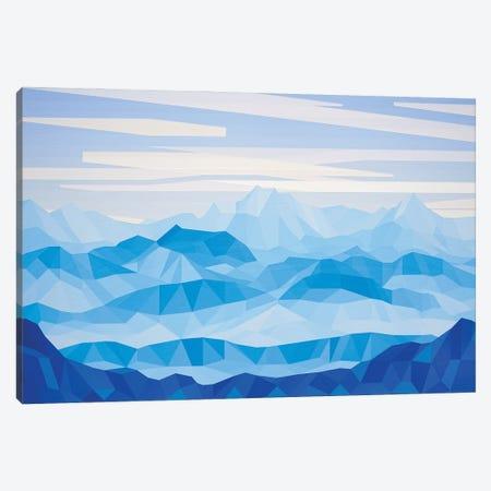 Blue Mountains Canvas Print #JYO82} by Jun Youngjin Canvas Art